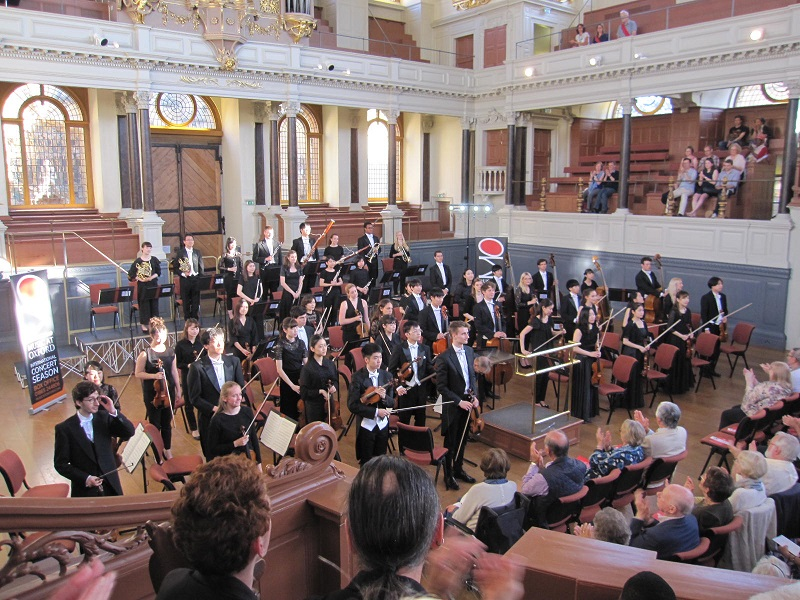 Curtain call at the Sheldonian Theatre