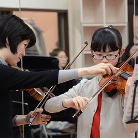 ヴァイオリンのレッスン
