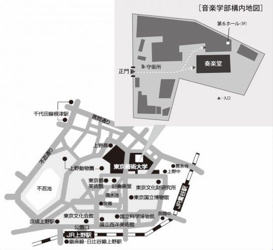 第6ホール・奏楽堂 地図