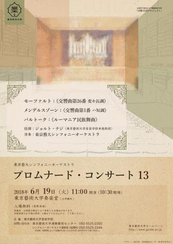 東京藝大シンフォニーオーケストラ プロムナード・コンサート13